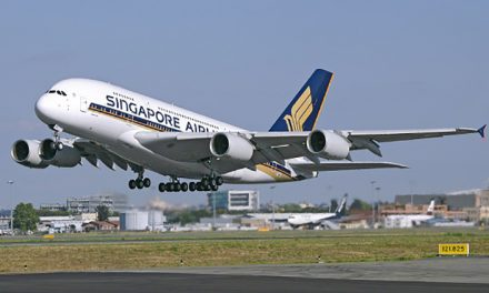 The First A380 gets put out to pasture