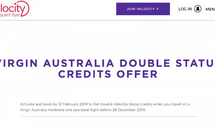 Velocity – Virgin Australia – Double Status Credits for Feb 2nd 2019