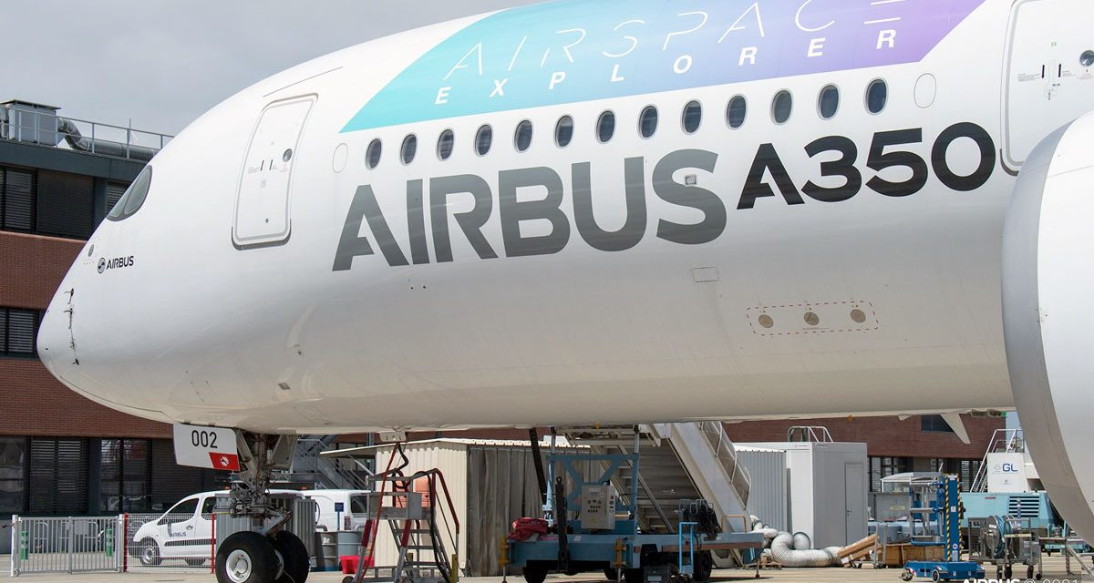 AIRBUS: Dimmable windows on an A350
