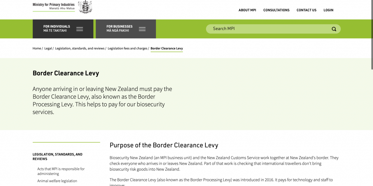 New Zealand: It will cost you twice as much to enter the country from 1 December